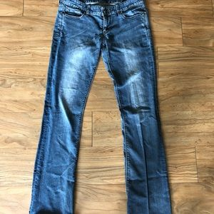 Express jeans size 6 long Stella low rise boot cut